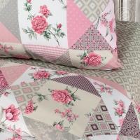 Лоскутная мозаика розовая