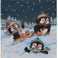 "Салфетка ""Пингвин на санках"""