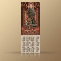 """Календарь Из Гобелена На 2020 Год """"Железный трон"""""""